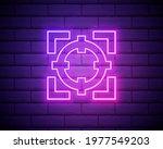 goal neon style icon. simple...