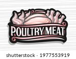 vector logo for poultry meat ...   Shutterstock .eps vector #1977553919