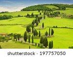 winding road in the fields of... | Shutterstock . vector #197757050