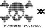 death skull halftone dot icon...   Shutterstock .eps vector #1977584000