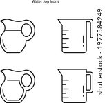 water jug icon isolated on...