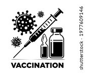 time to covid vaccinate icon.... | Shutterstock .eps vector #1977609146