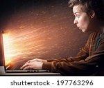 notebook explosion | Shutterstock . vector #197763296