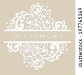 vector lace card. vintage white ... | Shutterstock .eps vector #197765369