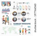 infographic technology digital... | Shutterstock .eps vector #197766560