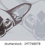 oriental cat. vector... | Shutterstock .eps vector #197768078