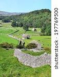 Barns And Wall Yorkshire Dales