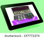 debt free calculator tablet... | Shutterstock . vector #197772374
