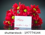 beautiful bouquet of red... | Shutterstock . vector #197774144
