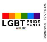 pride month at june 2021 lgbt ...   Shutterstock .eps vector #1977743126