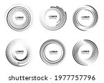 halftone circles with dots. set ... | Shutterstock .eps vector #1977757796