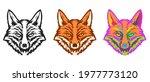 collection fox head in hand...   Shutterstock .eps vector #1977773120