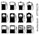 set of icons of petrol station. ... | Shutterstock .eps vector #197781278