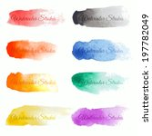 Set Of Colorful Vector Brush...