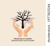 vector graphic of World Day to Combat Desertification and Drought good for World Day to Combat Desertification and Drought celebration. flat design. flyer design.flat illustration.
