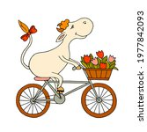 A Happy Cow On A Bicycle...