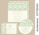 set of vintage wedding... | Shutterstock .eps vector #197785454