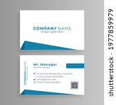 white business card with simple ... | Shutterstock .eps vector #1977859979