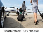 business partners with luggage... | Shutterstock . vector #197786450
