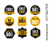 set of sale banner elements ... | Shutterstock .eps vector #1977867539