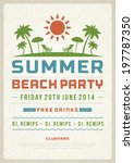 retro summer party design... | Shutterstock .eps vector #197787350