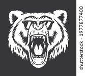 bear with eyeglasses vector... | Shutterstock .eps vector #1977877400