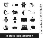 sleep icons | Shutterstock .eps vector #197788526