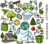 doodles eco icon set | Shutterstock .eps vector #197793830