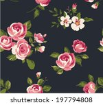 seamless vintage cute flower... | Shutterstock .eps vector #197794808
