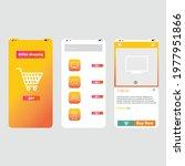 design mock up online shopping...