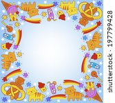 vector illustration with funny... | Shutterstock .eps vector #197799428