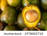 Picture Of An Avocado Splitting ...