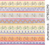seamless bicycle pattern... | Shutterstock .eps vector #197802290