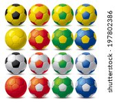 Set Of Soccer Balls
