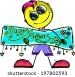 happy father's day | Shutterstock .eps vector #197802593
