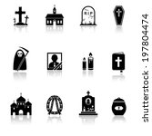 funeral icons | Shutterstock . vector #197804474