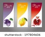 watercolor fruits banner....   Shutterstock .eps vector #197804606
