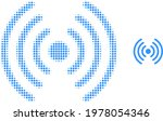 wi fi signal halftone dotted... | Shutterstock .eps vector #1978054346