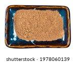 Top View Of Nutmeg Powder In...