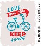 keep moving bike lettering in...   Shutterstock .eps vector #1978105733
