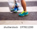 people at the zebra crossing | Shutterstock . vector #197811200