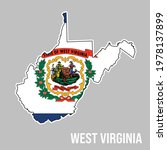 west virginia state silhouette...   Shutterstock .eps vector #1978137899