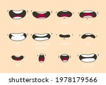 cartoon talking mouth and lips... | Shutterstock .eps vector #1978179566