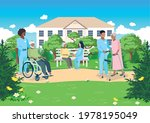 nurses take care of the elderly ... | Shutterstock .eps vector #1978195049
