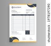 white business invoice details... | Shutterstock .eps vector #1978197290