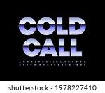 vector modern emblem cold call. ...   Shutterstock .eps vector #1978227410
