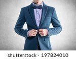 handsome elegant young fashion... | Shutterstock . vector #197824010