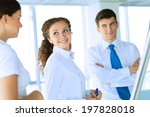 business consultant discussing... | Shutterstock . vector #197828018