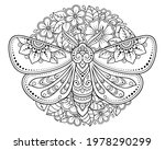 moth decorated with indian... | Shutterstock .eps vector #1978290299