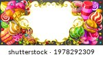 candy frame and text box. sweet ...   Shutterstock .eps vector #1978292309